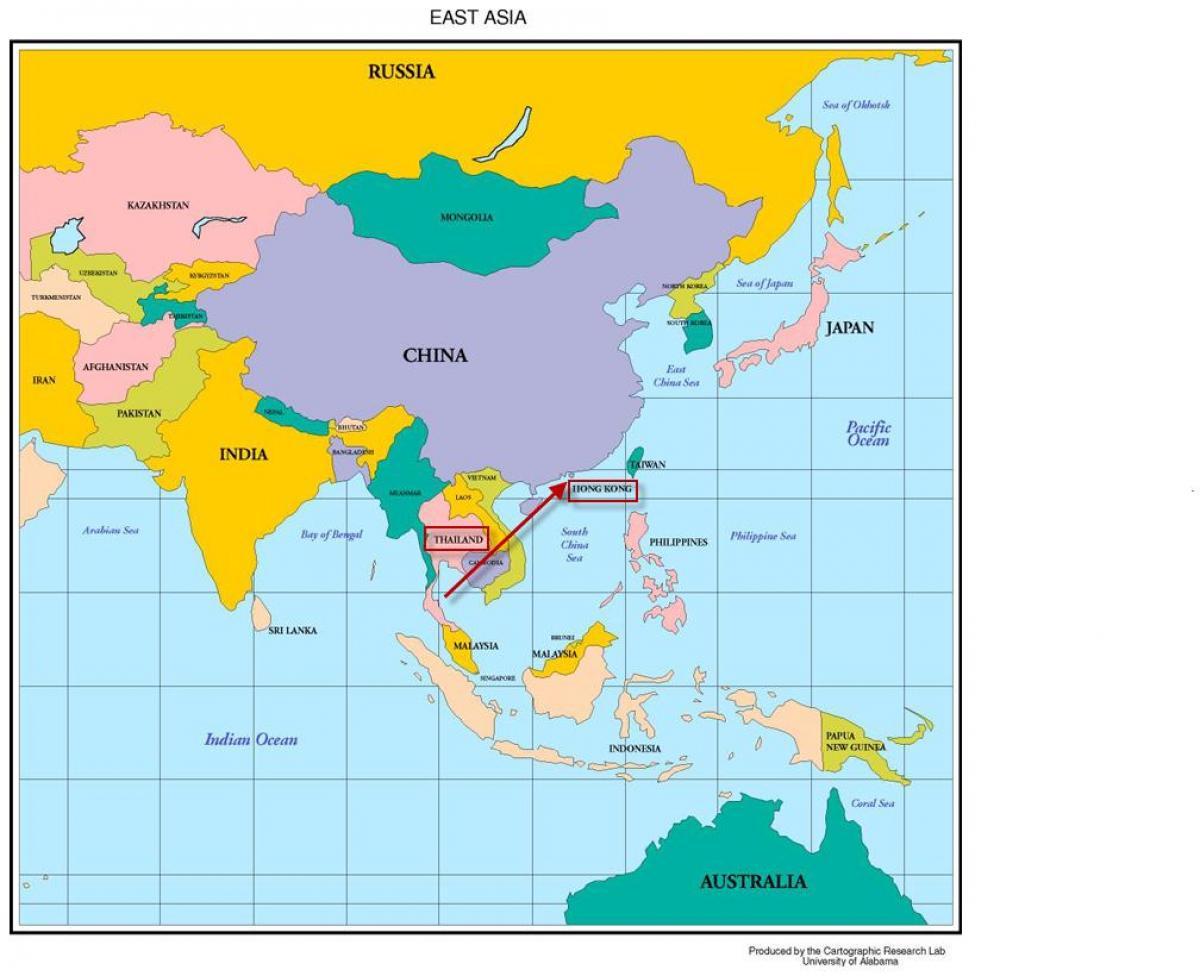 asia kart norsk Hong Kong kart   asia Hong Kong i kartet av asia (Kina) asia kart norsk